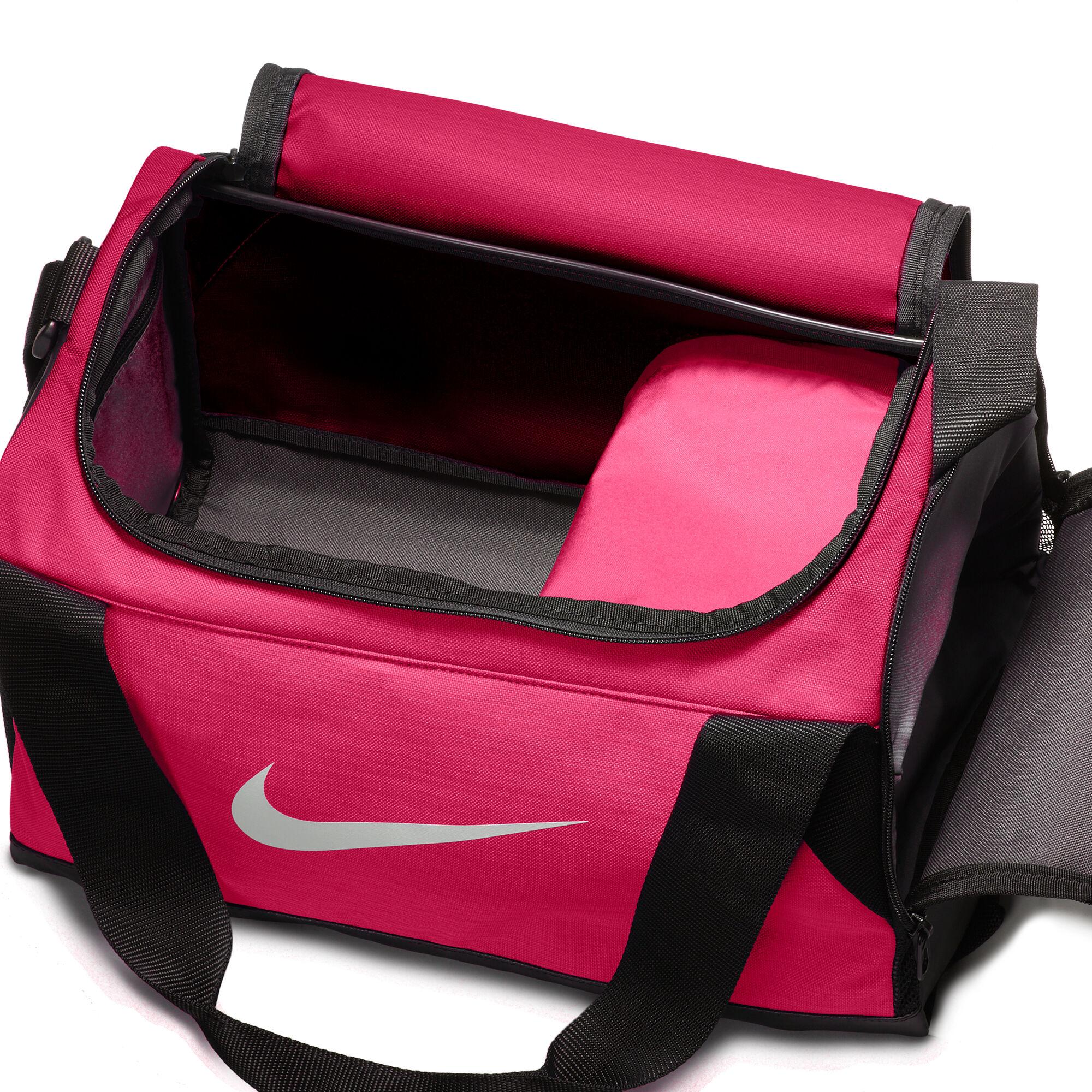 buy Nike Brasilia Duffel Extra Small Sports Bag XS - Pink, Black ... 820ec01287