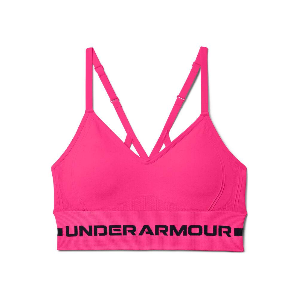 SeamlessLowLongPaddedSportsBrasWomen-Pink.Black