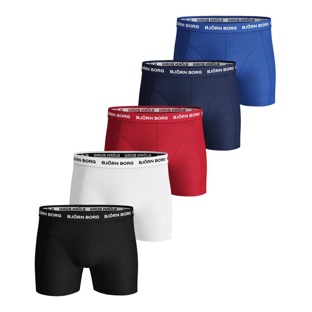 Solid Sammy Boxer Shorts 5 Pack Men