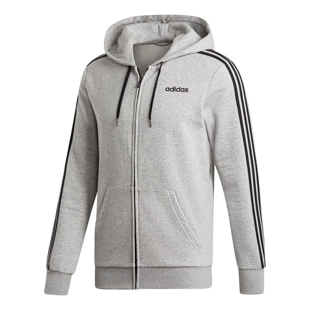 Essentials 3 Stripes Zip Hoodie Men