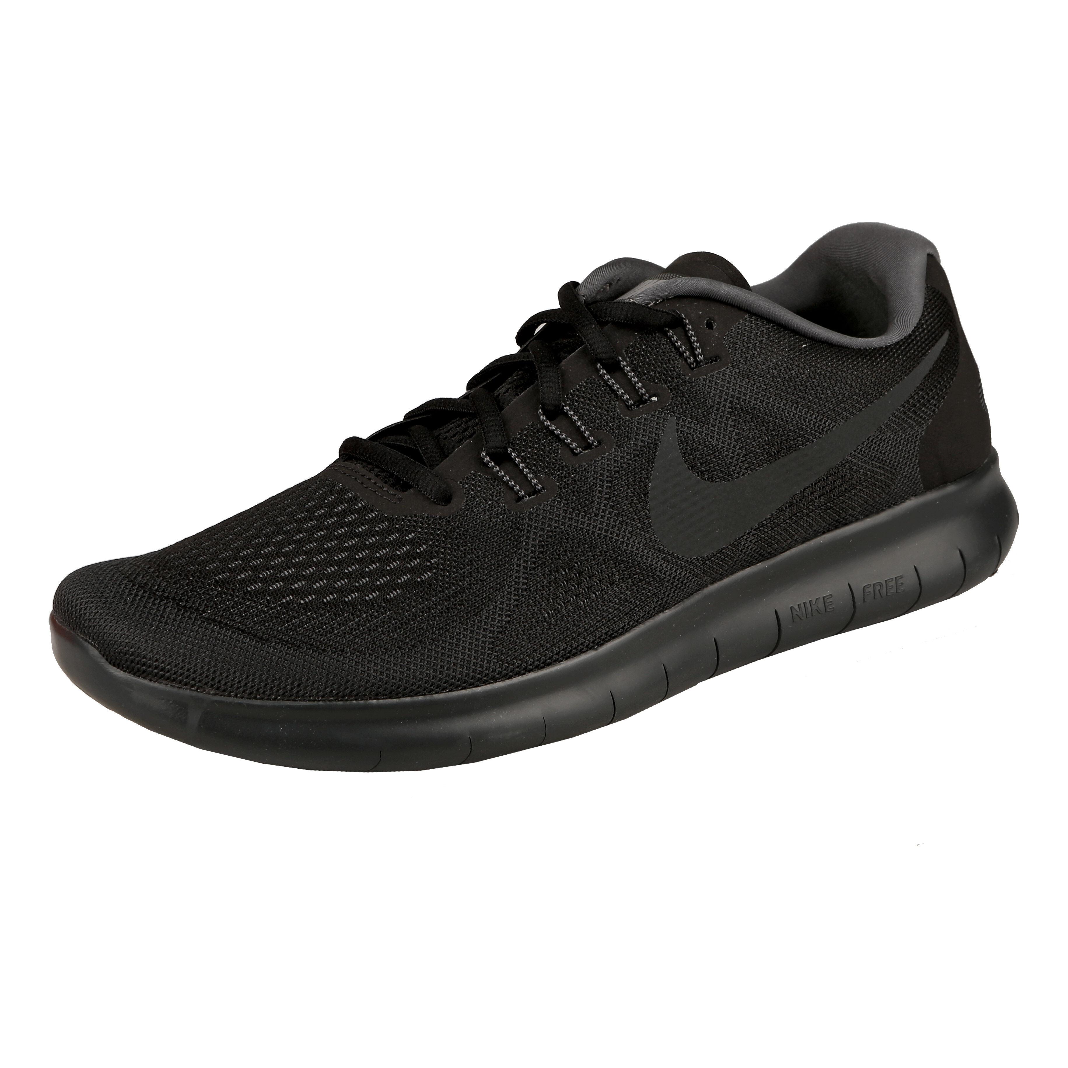 Nike Free Run 2017 Natural Running Shoe Men Black, Dark Grey