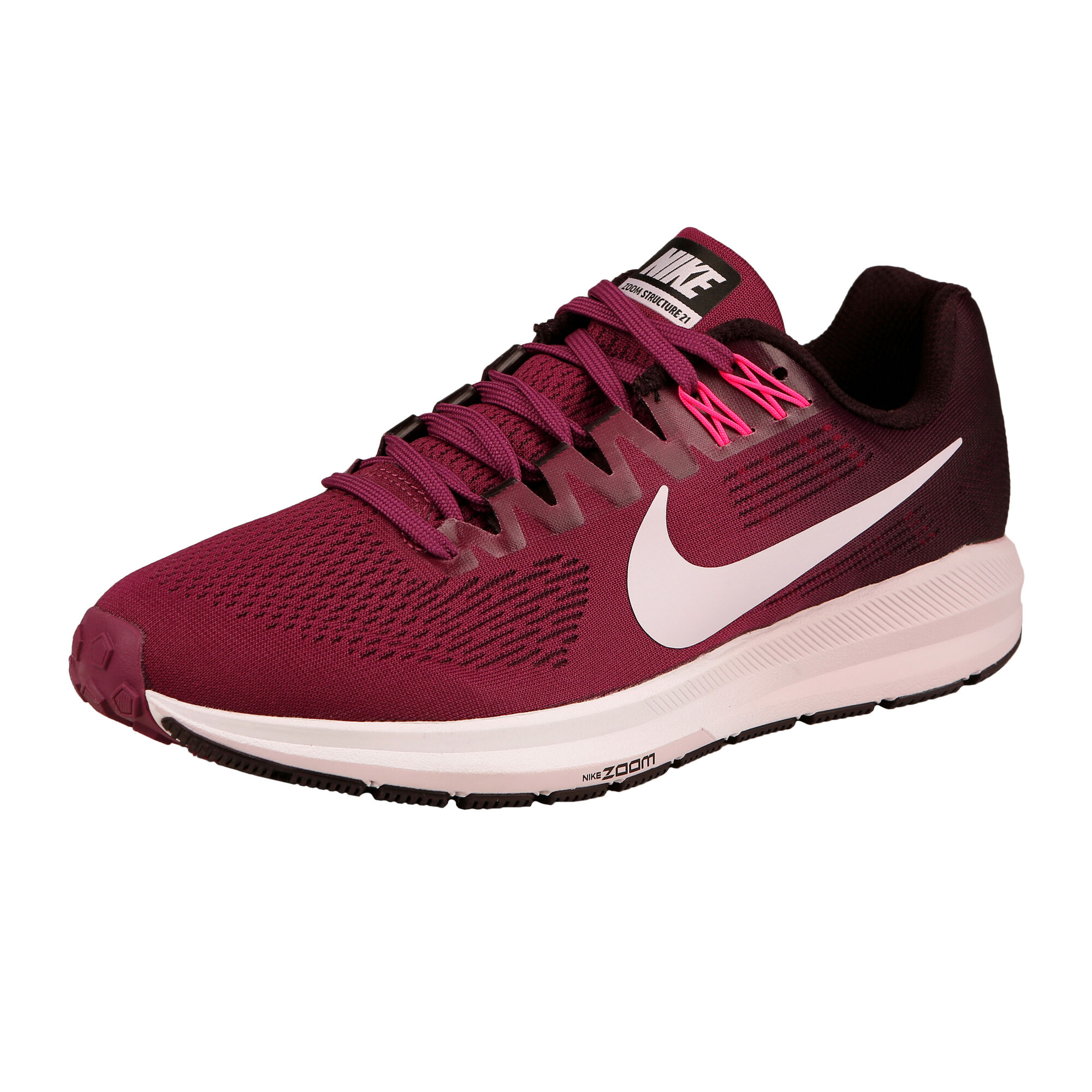 check out 963f8 2c1bb Nike Air Zoom Structure 21 Stability Running Shoe Women - Dark Red, Black