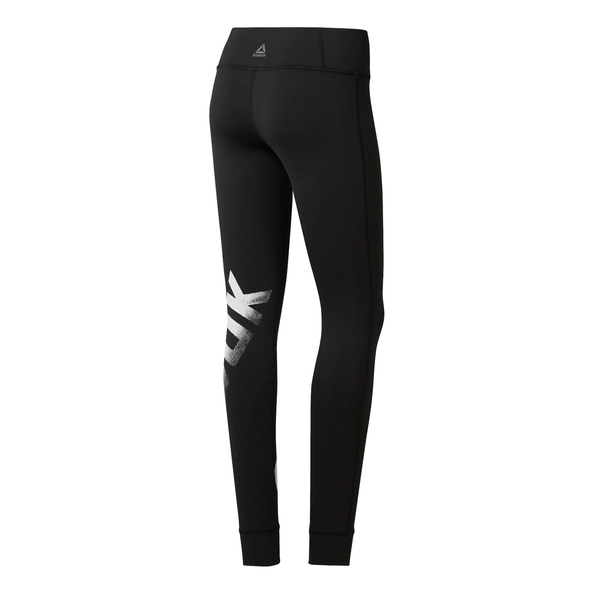 f7dc02261f888 buy Reebok Cardio Lux Bold Tight Women - Black, White online ...
