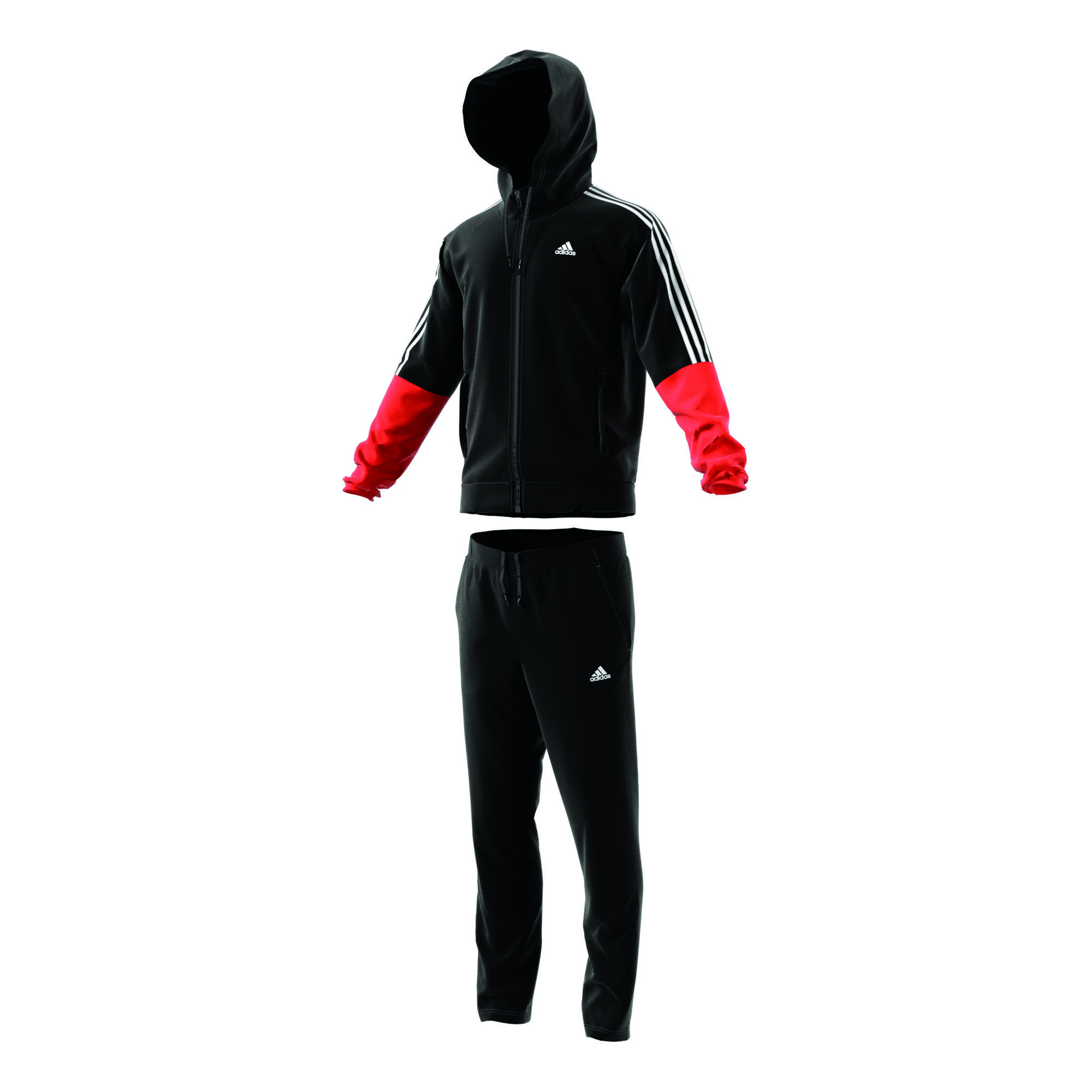 cfd57f05343 buy adidas Re-Focus Tracksuit Men - Black, Red online | Jogging-Point