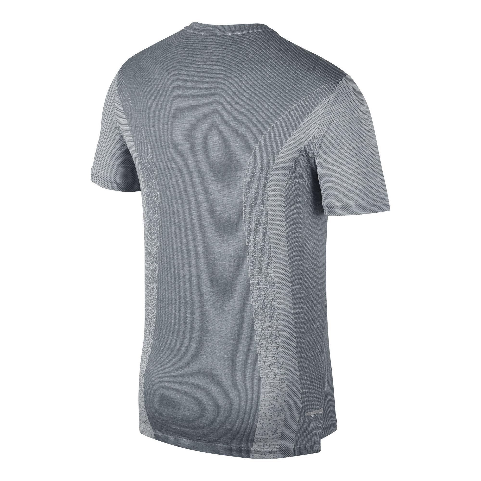 fe9e7517 buy Nike TechKnit Cool Ultra T-Shirt Men - Dark Grey, Silver online ...