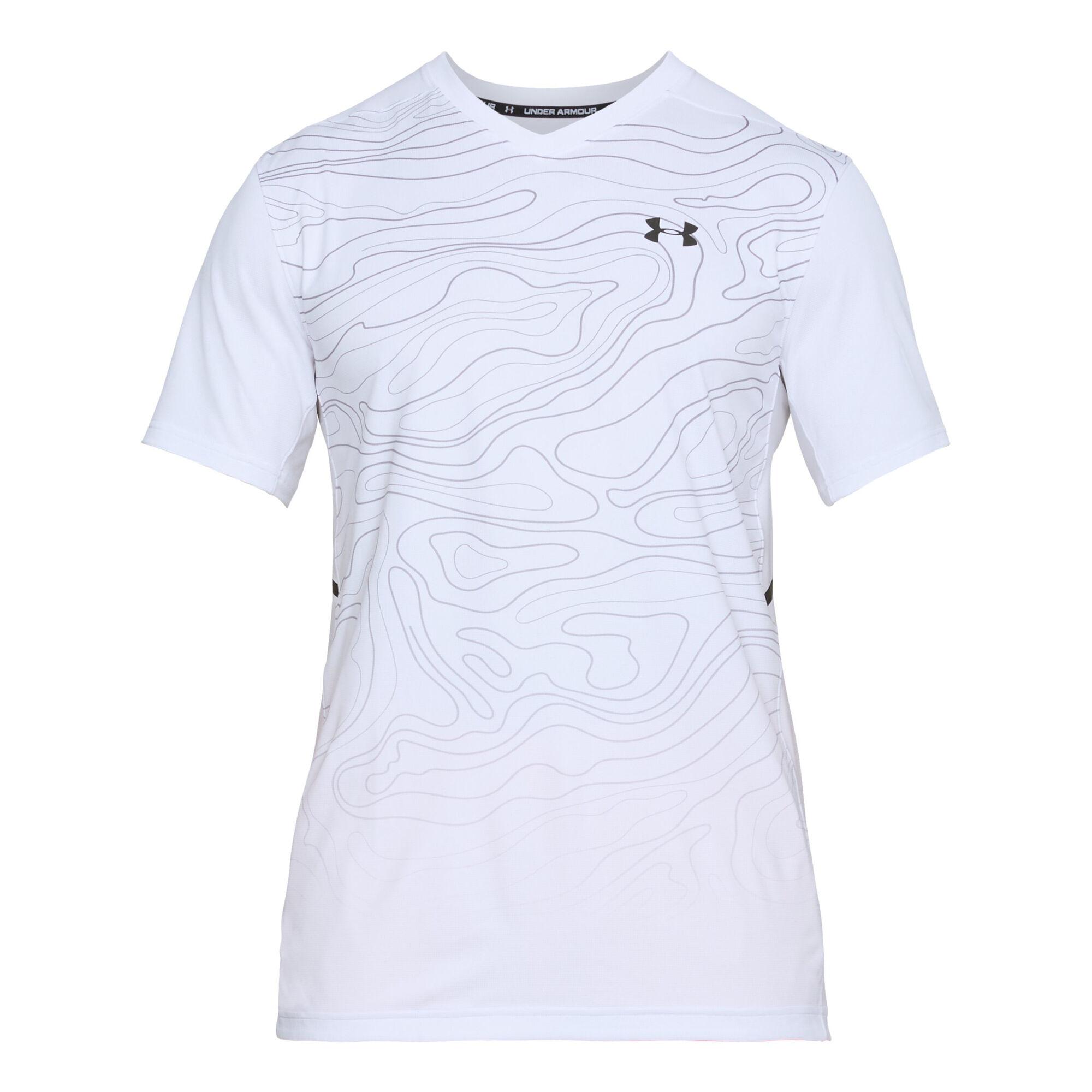 ad5d22b6 buy Under Armour Forge V Neck Novelty T-Shirt Men - White, Black ...