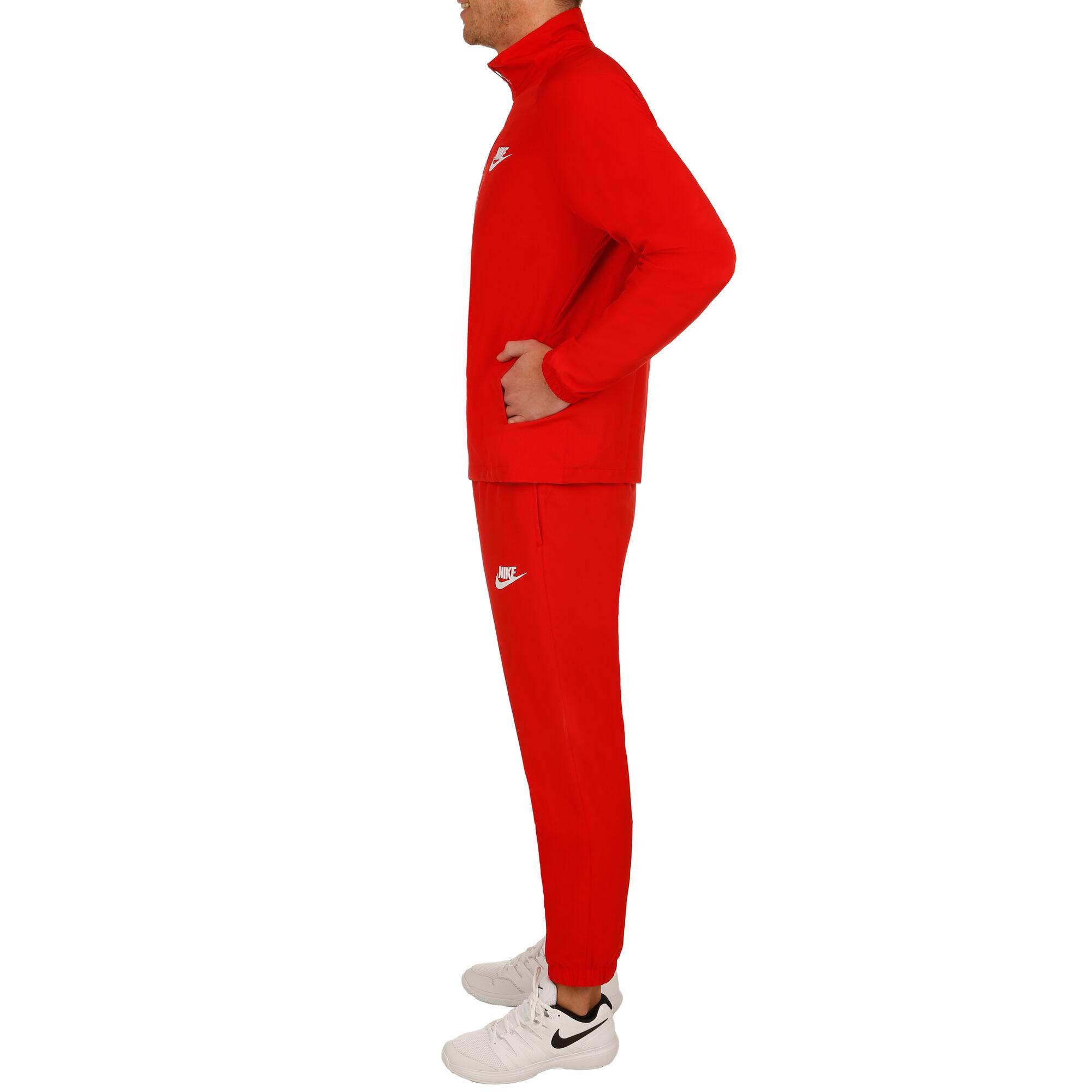 10576dbd5a35 buy Nike Sportswear Woven Tracksuit Men - Red, White online ...