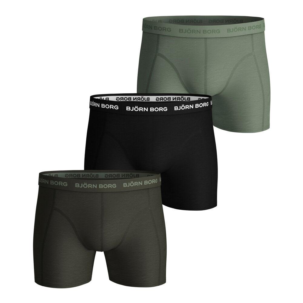 Seasonal Solid Sammy Boxer Shorts 3 Pack Men