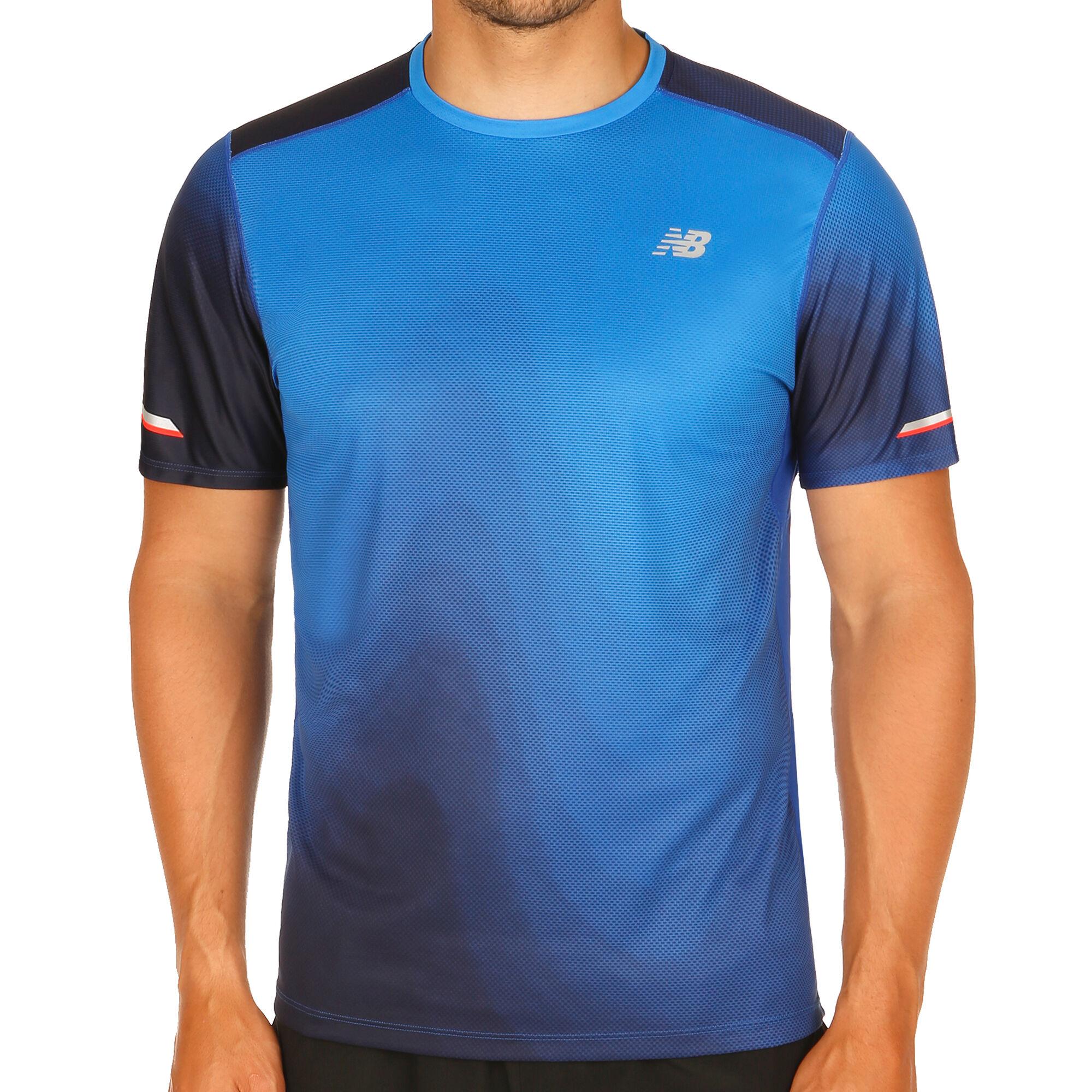 c2d959be1d14a buy New Balance Ice Printed T-Shirt Men - Blue, Dark Blue online ...