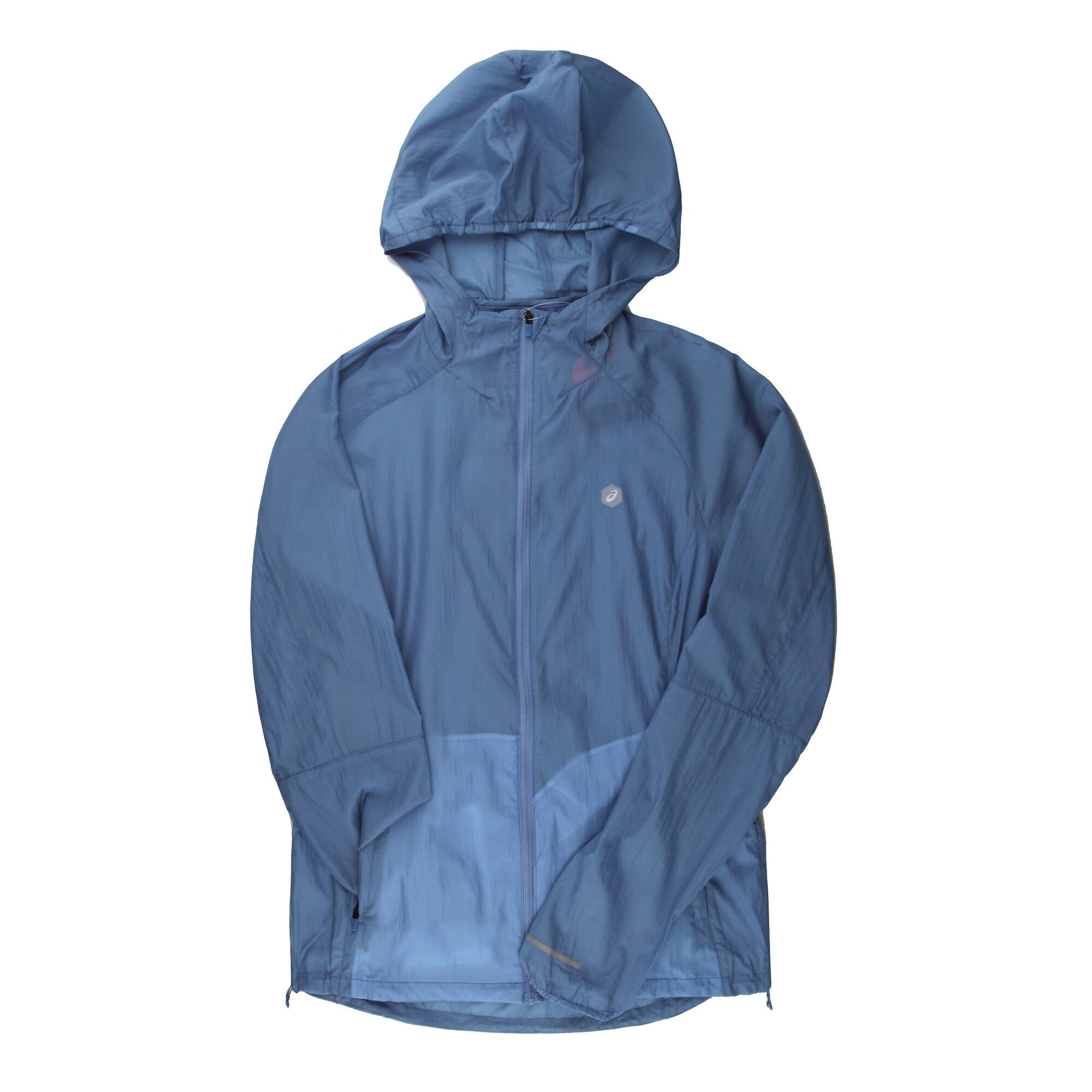 110646ddc75 buy Asics Packable Running Jacket Women - Light Blue, Grey online ...