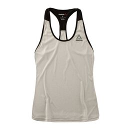 Workout Ready Stacked Logo Poly Tank Women