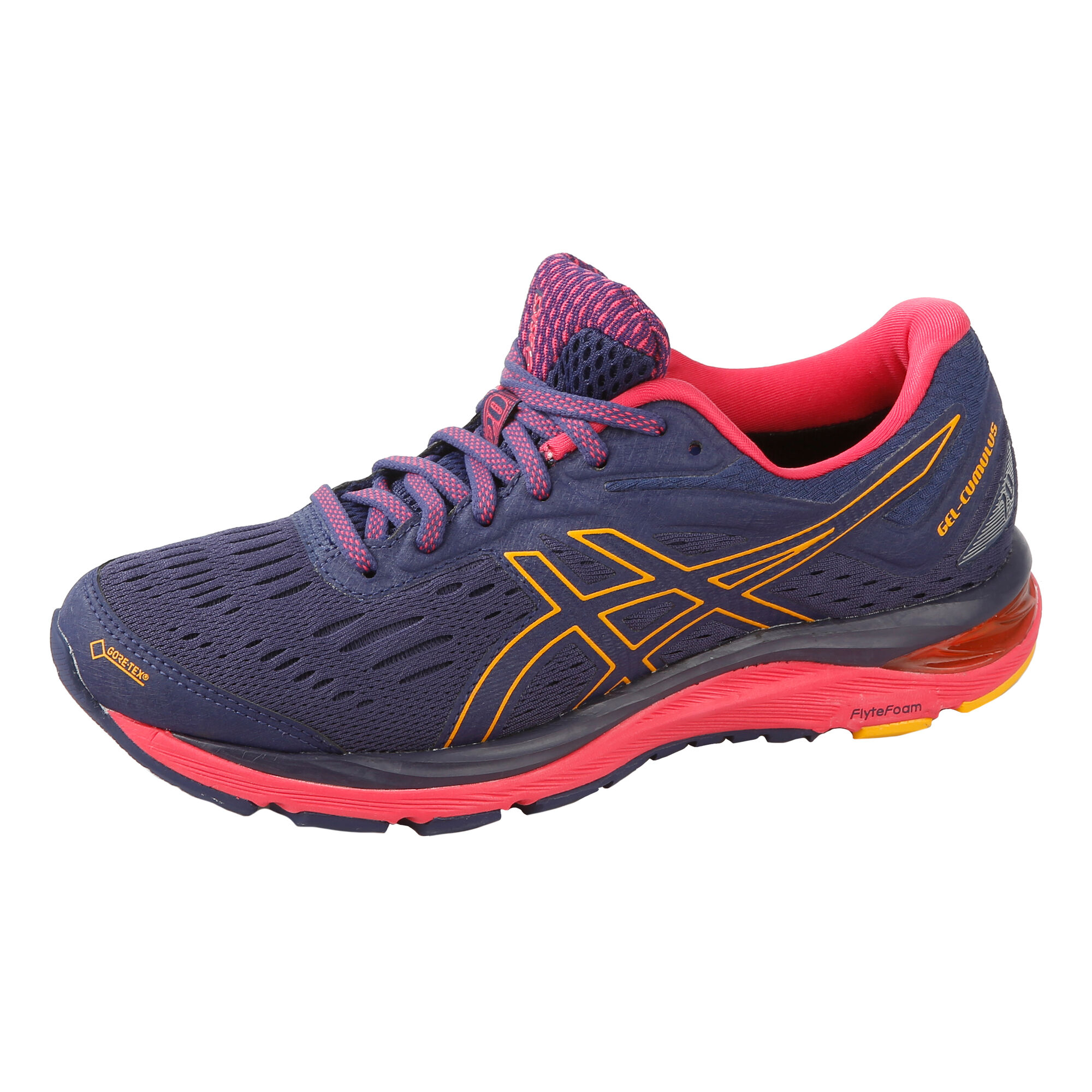 18b92a91 buy Asics Gel-Cumulus 20 G-TX Neutral Running Shoe Women - Dark Blue ...
