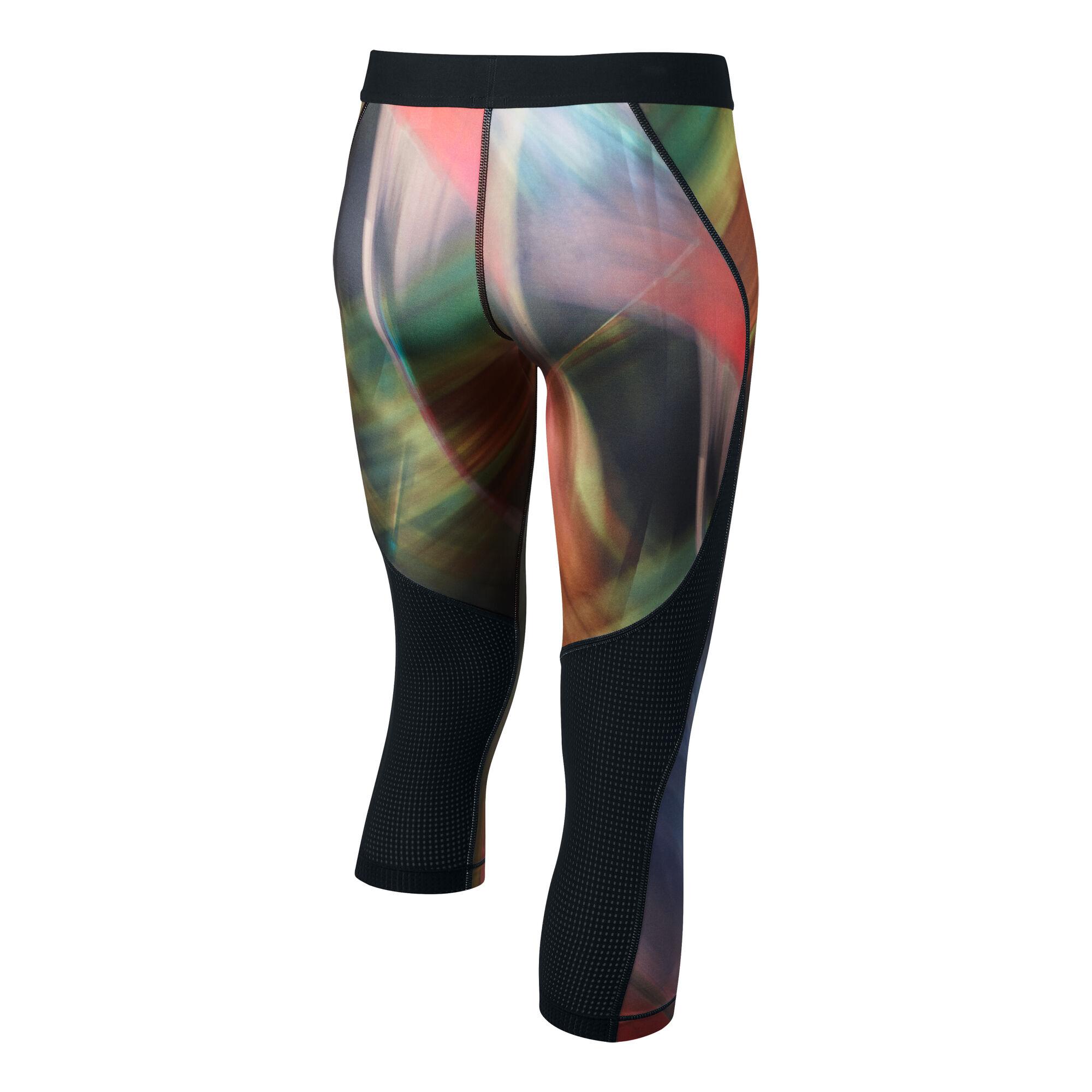 f1ada11fd6a456 buy Nike Pro Hypercool Capri Pants Girls - Black, Lemon online ...